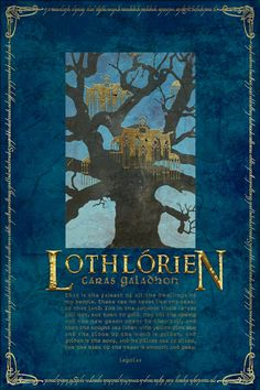 Lothlorien Travel Poster from The Lord Of the Rings by PasspArt, $20.00