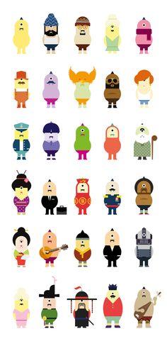 DOKAEBEE : Korean monster identity, character design by Jahng Hyoung joon, via Behance: Simple Character, Game Character Design, 2d Character, Character Concept, Cute Characters, Cartoon Characters, Monster Characters, Cute Illustration, Character Illustration