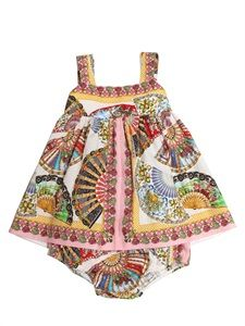 Dolce & Gabbana Ventaglio Poplin Dress
