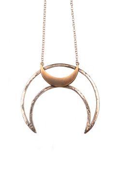 ☆ Same Moon Necklace .:Jewelry Designer Andrea Rokosz:. Shop: Army Of Rokosz ☆