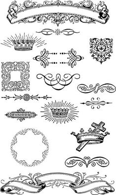 Vintage Graphic Design Free Vintage Grunge Vector and Clip Art Ornaments for T-Shirt Design - Vintage Frames, Vintage Clip Art, Vintage Graphic, Clipart, Etiquette Vintage, Web Design, Graphic Design, Vintage Grunge, Arts And Crafts Projects