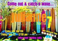 surf party invites