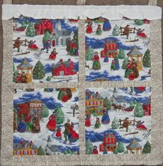 Winter Window Quilted Wall Hanging by Codysquilts Fall Quilts, Quilted Wall Hangings, Window Wall, Mug Rugs, Christmas Inspiration, Quilting Projects, Handmade Art, Holiday Crafts, Table Runners