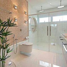 Quer banheiro mais lindo? ⭐ por Designer Iara Kilaris SIGA⏩@construindominhacasaclean Veja + no blog www.construindominhacasaclean.com  Se você precisa de ajuda para decorar algum ambiente, solicite uma consultoria online com 3D pelo meu e-mail...