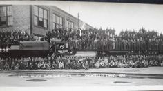 UPRR Shop and workers Pocatello yards 1936 Main Street, Street View, Homeland, All Over The World, Paris Skyline, Dolores Park, Scenery, History, Places