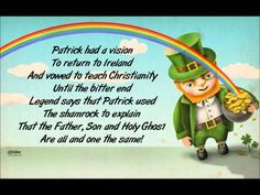 Lyrics: The story of St Patrick's Day Began so long ago The lyrics in this song Will tell you All you need to know The seventeenth of March Is when this joyo. Poetry For Kids, Music For Kids, Kids Songs, St Patrick's Day Music, Music Class, St Patricks Day Songs, Celebration Song, St Patrick Day Activities, Saint Patrick