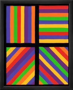 """Résultat de recherche d'images pour """"oeuvre color bands in four directions sol lewitt 1999"""""""