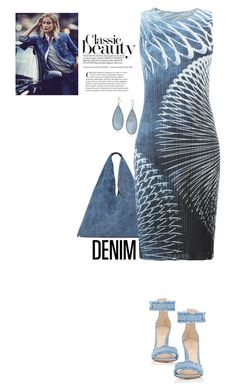 Denim by terry-tlc on Polyvore featuring Pleats Please by Issey Miyake, Gianvito Rossi, MM6 Maison Margiela and Kenneth Cole