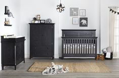 Overland Nursery Furniture Collection from Baby Cache - their newest finish - Forever Black is so chic. It can work in almost any style nursery! Baby Cribs For Sale, Baby Crib Sets, Best Baby Cribs, Baby Baby, Black Nursery Furniture, Nursery Furniture Collections, Baby Furniture, Furniture Ideas, Outdoor Furniture