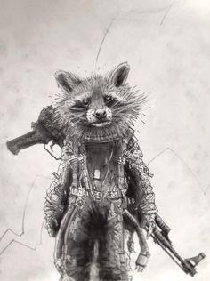 Rocket Raccoon by Tomas Overbai