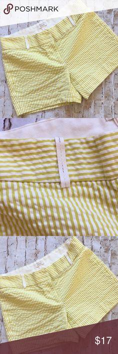 "J.Crew Seersucker Cotton Shorts Great condition  Super cute and comfortable  Size 0 13 1/2"" waist  12 1/2 long  3 1/2 "" inseam  Flat measurements Non smoking envionment💕 J. Crew Shorts"