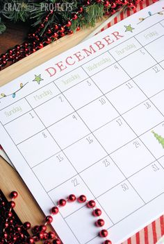 Free Printable Holiday Planner and Calendar