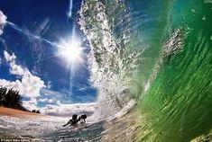 Photographers Nick Selwayand and CJ Kale, in Hawaii.