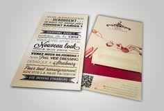 Création d'un flyer pour l'assocation Vide Dressing Strasbourg.