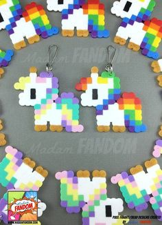 Our pixel style Unicorn Party Favors are a MUST for your party! These little guy… Our pixel style Unicorn Party Favors are a MUST for your party! These little guys feature ORIGINAL Madam FANDOM Pixel Art – drawn, designed, and… Continue Reading → Perler Bead Designs, Hama Beads Design, Diy Perler Beads, Perler Bead Art, Rainbow Unicorn Party, Unicorn Birthday Parties, Birthday Favors, Art Birthday, Birthday Gifts