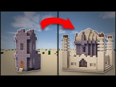 Minecraft: How To Transform A Desert Village Church (Mosque) - YouTube