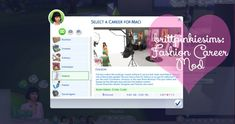Fashion Career Mod: Update! for The Sims 4 by Brittpinkiesims DOWNLOAD ID: SC4-162890