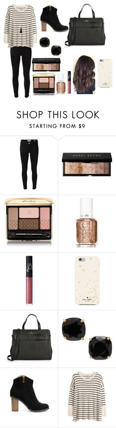 """Finally the Weekend!!"" by brookegriss ❤ liked on Polyvore featuring Frame Denim, Bobbi Brown Cosmetics, Guerlain, Essie, NARS Cosmetics, Kate Spade, H&M, Charlotte Russe, women's clothing and women"