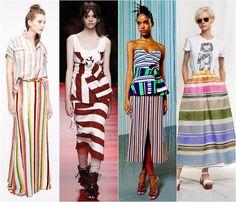 Striped skirts spring-summer 2016