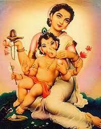 ganesha with parvathi Shri Ganesh, Lord Ganesha, Lord Shiva, Durga, Krishna, Baby Ganesha, Om Gam Ganapataye Namaha, Ganesh Images, Mother Goddess
