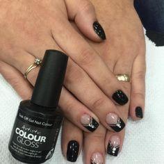 Artistic Colour Gloss Swag Available At Louella Belle #ArtisticNailDesign #ArtisticColourGloss #Black #BlackNails #GelPolish #LouellaBelle
