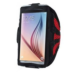 Phone arm band - TOOGOO(R)For Samsung Galaxy S6 S5 Sport Arm Band From Mobile Network New homes Red. Made of high quality material in lightweight nylon with a transparent protective plastic membrane for the screen. Case flexible and light bracelet, provide full protection for the phone and the screen edge. Convenient and secure protection during transit and during the exercises. The belt is adjustable and good feeling. Easily removable and washable.