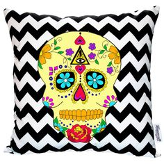 Day Of The Dead Geometric Cushion from notonthehighstreet.com
