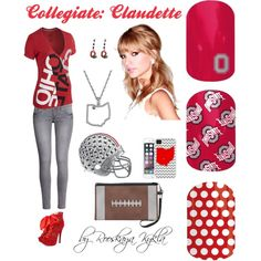 Jamberry Styles by Irina Ashley Rivera, Jamberry Nails, Ohio State Buckeyes, How To Do Nails, You Nailed It, Hair Makeup, My Style, Polyvore, Closet
