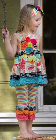 Spring is brighter with Zaza Couture <3  http://heavensentonline.com/collections/frontpage/products/rainbow-flower-capri-set