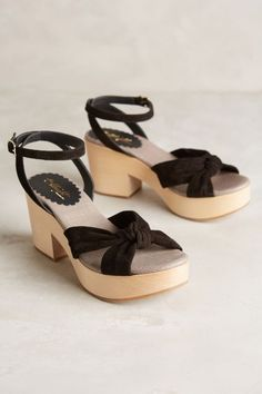 Anthropologie Miss Albright Petra Black Suede Clog Sandals Size 8 NWOB !148 S/O…
