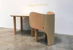 Elephant Chair and Table set by Marc Venot