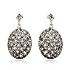 Joyeria Plata y Azabache Artesania Galicia Home Page Silver and Black Jet Crafts Jewelry Crafts Tax Free, Marcasite, Jewelry Crafts, Glamour, Drop Earrings, Sterling Silver, Retro, Collection, Black