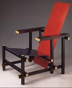 rietveld chaise dite de berlin et petite table 1923 bois peint rietveld pinterest. Black Bedroom Furniture Sets. Home Design Ideas