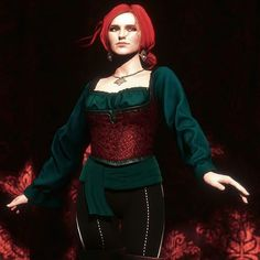 Found this beautiful Triss mod. Now THIS is the alternate outfit of my dreams! Witcher 3 Triss, Witcher 3 Art, The Witcher Game, Ciri, Game Costumes, Cosplay Costumes, Triss Cosplay, Triss Merigold Cosplay, Redhead Characters