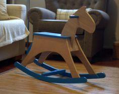 Rocking Horse wooden toy kids toy safe toy by LittleSaplingToys