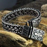 Items similar to 925 Sterling Silver Fleur De Lis Wide Braided Bracelet, Celtic Handmade on Etsy Braided Bracelets, Bracelets For Men, Fashion Bracelets, Bracelet Men, Leather Bracelets, Beach Bracelets, Mens Silver Jewelry, Sterling Silver Bracelets, Silver Earrings