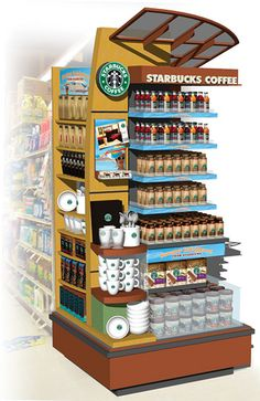 Starbucks Safeway Endcap POP Display by tenfour archive, via Flickr