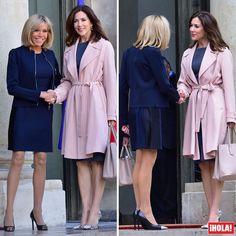 Primer encuentro de Brigitte Macron con la realeza. La Primera Dama de Francia ha recibido en el Elíseo a la princesa Mary de Dinamarca, que ha participado en París en una conferencia sobre igualdad de género.  #princesamary #brigittemacron #royals #paris #princessmary #eliseo