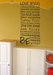 Rules for kids fun wall decal by GrabersGraphics on Etsy Playroom Design, Playroom Rules, Playroom Ideas, Toy Rooms, Kids Rooms, Rules For Kids, Silly Songs, Church Nursery, Family Rules