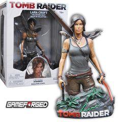 NEW Tomb Raider Lara Croft Collectible Statue Bust Crystal. New Tomb Raider, Tomb Raider Lara Croft, Ancient Artefacts, Popular Videos, Raiders, Dc Comics, Action Figures, Wonder Woman, Statue