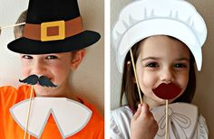 FREE SHIPPING - Printable Thanksgiving Photo Booth Props 44% off at Groopdealz