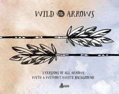 Wild Arrows. 15 hand drawn Clipart. Tribal native от OctopusArtis