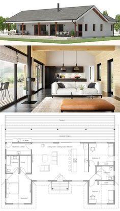 House Plan House Plan, Home Plan, Floor Plan, Dream House Plans, Small House Plans, Retirement House Plans, Modern Architecture House, Modern House Design, Farmhouse Plans, Farmhouse Trim, Farmhouse Layout, House Layouts