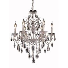 """St. Francis 24"""" Crystal Chandelier with 6 Lights (2016D24)"""