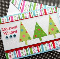 Holiday Card with Matching Embellished by SewColorfulDesigns, $4.00