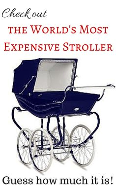 Check out the world's most expensive stroller! http://www.thestrollersite.com/most-expensive-stroller/ #strollers #mostexpensive #kids #baby