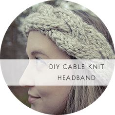 Free Pattern: Chunky Cable Knit Crown Headband –