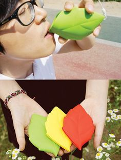Leaf Silicone Pocket Cup by Connect Design. best for outdoor camping and hiking. little , light weight /