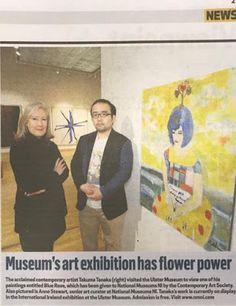 社長ブログという雑文: Ulster Museum入りした田中拓馬さんがイギリスのメディアに掲載されました!