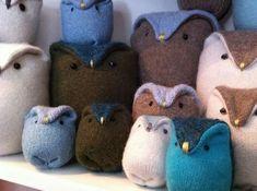 Custom Upcycled Owl Family Made from Your by BirdIsTheWordDesign, $40.00